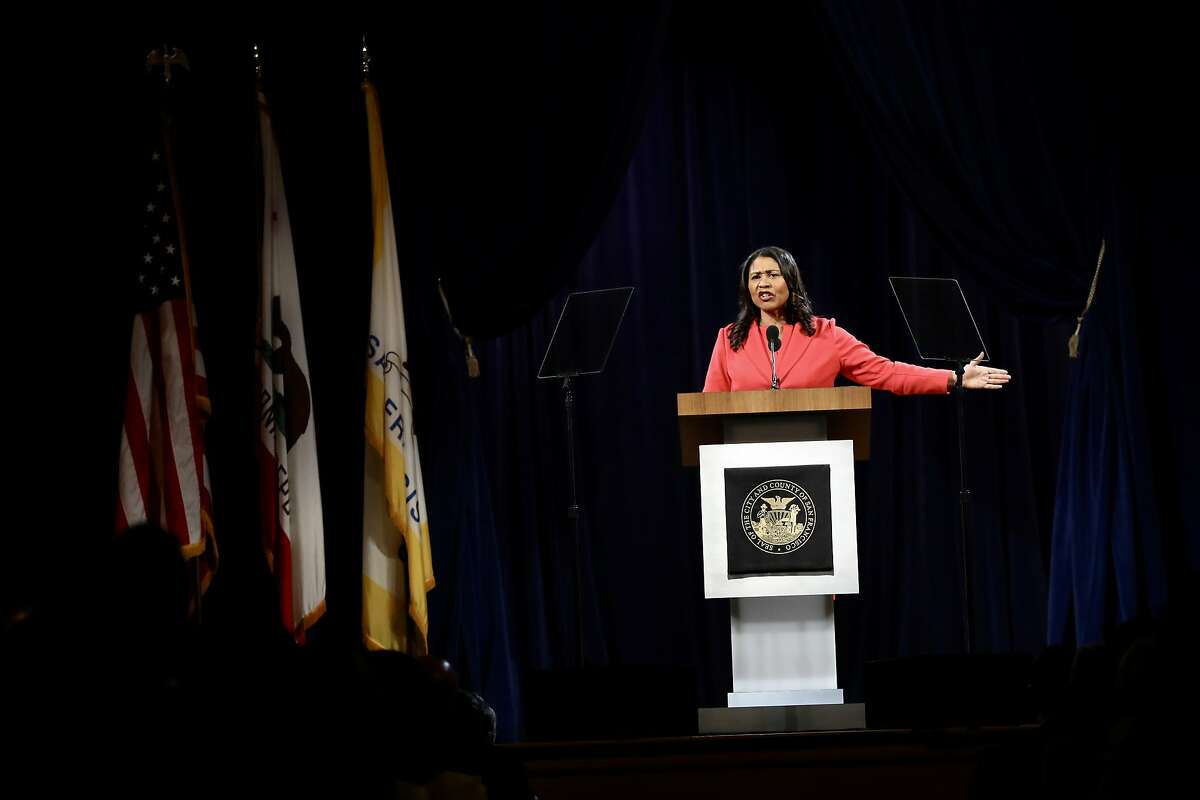 San Francisco Mayor London Breed delivers her State of the City address at the National LGBTQ Center for the Arts in San Francisco, Calif., on Wednesday, January 30, 2019.