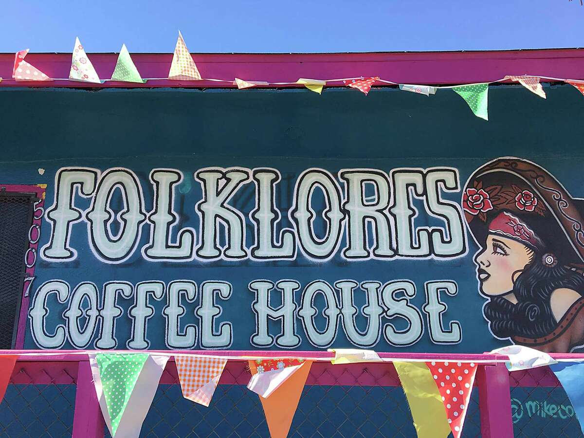 Folklores Coffee House on South Flores Street in San Antonio. For Mike Sutter's Top 100 Dining & Drinks Guide story.
