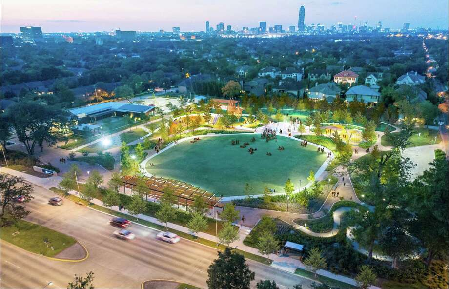 Plans for phase 2 of Evelyn's Park were presented to the Bellaire city council on Monday, Jan. 28. If approved in March, work would likely begin in 2020 and finish in 2021. Some key features include a splash pad, added shade structures and a play area for small children. Photo: Courtesy Photo By Evelyn's Park Conservancy