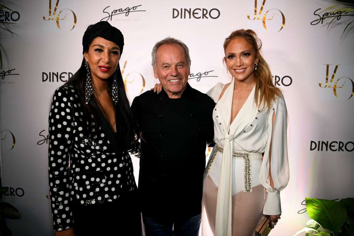 LAS VEGAS, NV - MAY 20: Gelila Puck, Wolfgang Puck and Jennifer Lopez arrive at Spago at Bellagio on May 20, 2018 in Las Vegas, Nevada. (Photo by Denise Truscello/Getty Images for MGM Resorts International)