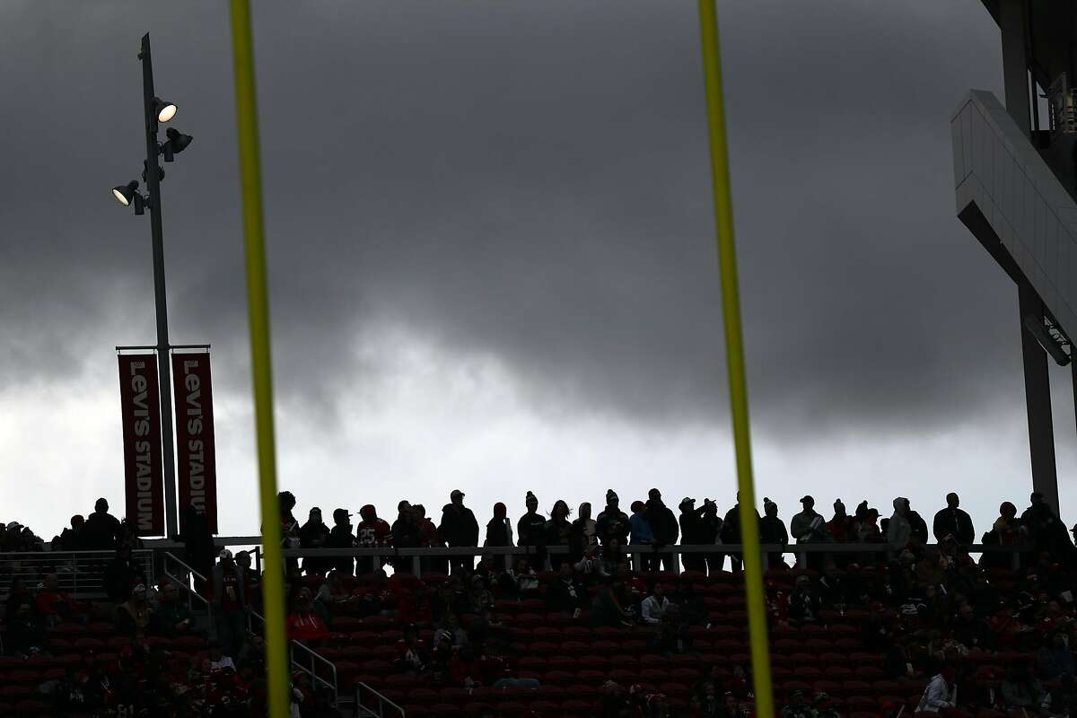 San Francisco 49ers' fans at 26-23 win over Seattle Seahawks in NFL game at Levi's Stadium in Santa Clara, Calif. on Sunday, December 16, 2018.