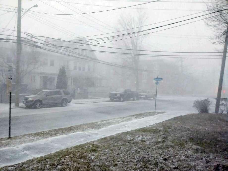 Ellsworth Street in Bridgeport, Conn. at 4:44 p.m. on Jan. 30, 2019. Photo: James Walker / Hearst Connecticut Media / Connecticut Post