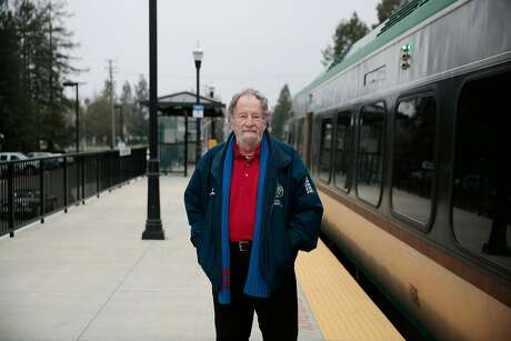 Rohnert Park city councilman and former mayor Jake Mackenzie poses for a portrait at the SMART train station in Rohnert Park, California, Wednesday, January 30, 2019. Ramin Rahimian/Special to The Chronicle Photo: Ramin Rahimian / Special To The Chronicle