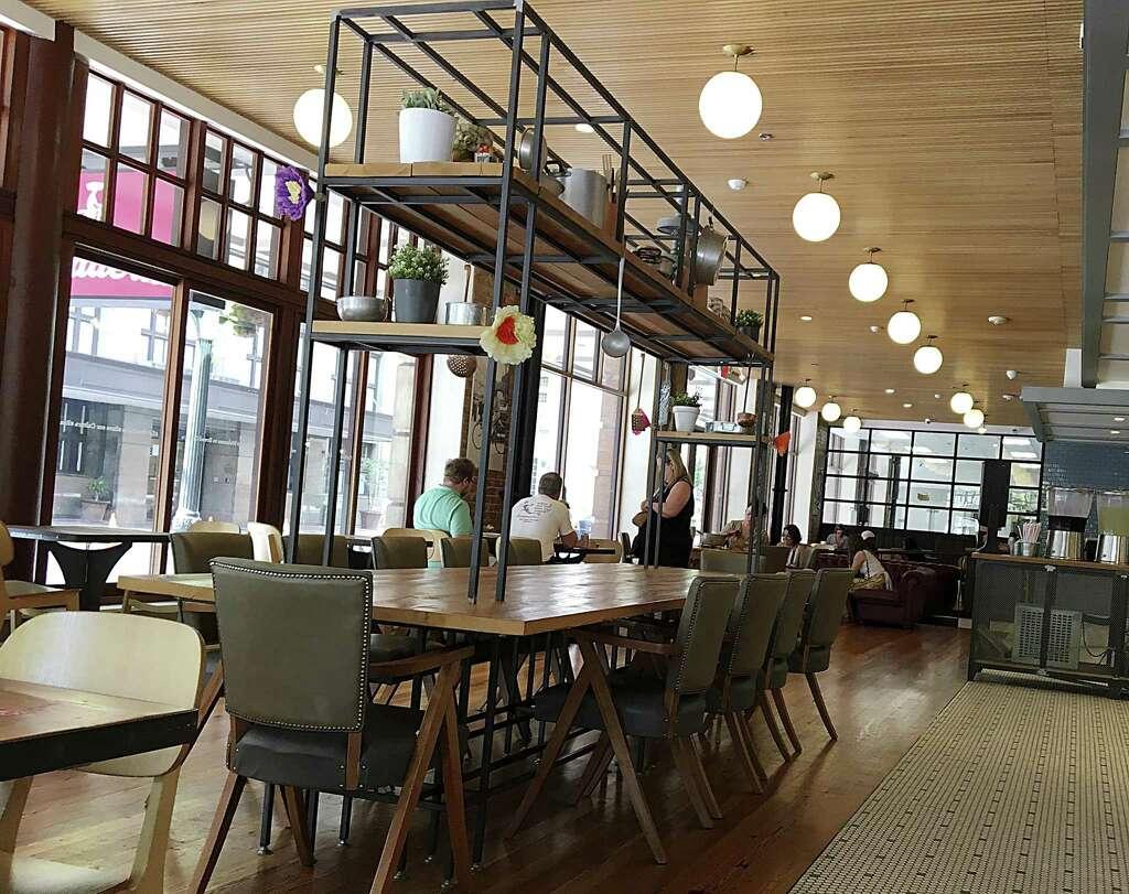 <p>The dining room of La Panadería on East Houston Street.</p>