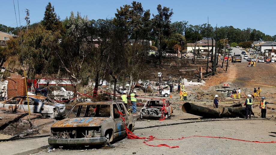 The devastating San Bruno gas pipeline explosion in 2010 resulted in PG&E being convicted on criminal charges. Photo: Paul Chinn / The Chronicle 2010