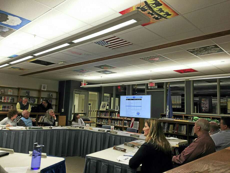 In this file photo, the Board of Education and Superintendent Sherri Turner discuss the proposed 2017-18 budget. Term lengths for school board members was changed this week from six years to four. Photo: Ben Lambert / Hearst Conneciticut Media