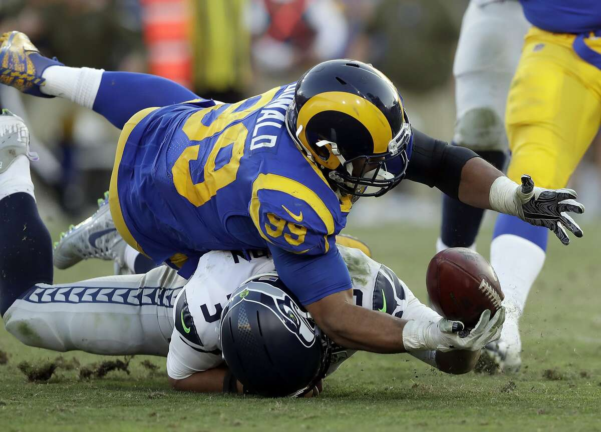 2. RAMS BEAT SEAHAWKS TWICE BY ONE SCORE IN 2018 The Seahawks were winless against the Rams this past season. Both games, in Weeks 5 and 10, were tight losses for Seattle. In the first matchup, trailing by two with less than four minutes remaining, the Seahawks had possession of the ball with a go-ahead score within grasp. But a costly second-down penalty would lead to a punt, and eventually a failed chance to beat the then-undefeated Rams. And Seattle's hopes against LA would also come down to poor final-drive execution five weeks later: the Seahawks, this time trailing by five, charged into Rams territory with less than a minute remaining before Russell Wilson threw three consecutive incompletions to seal LA's win.