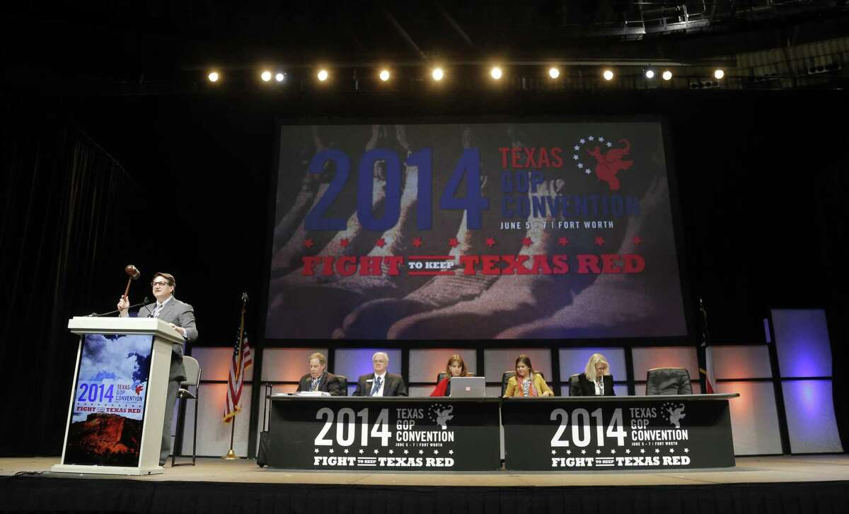 Chairman Steve Munisteri gavels in the session to vote on the platform during the third day of the Texas Republican Convention at the Fort Worth Convention Center in Fort Worth, TX, Saturday, June 7, 2014. (Star-Telegram/Rodger Mallison)