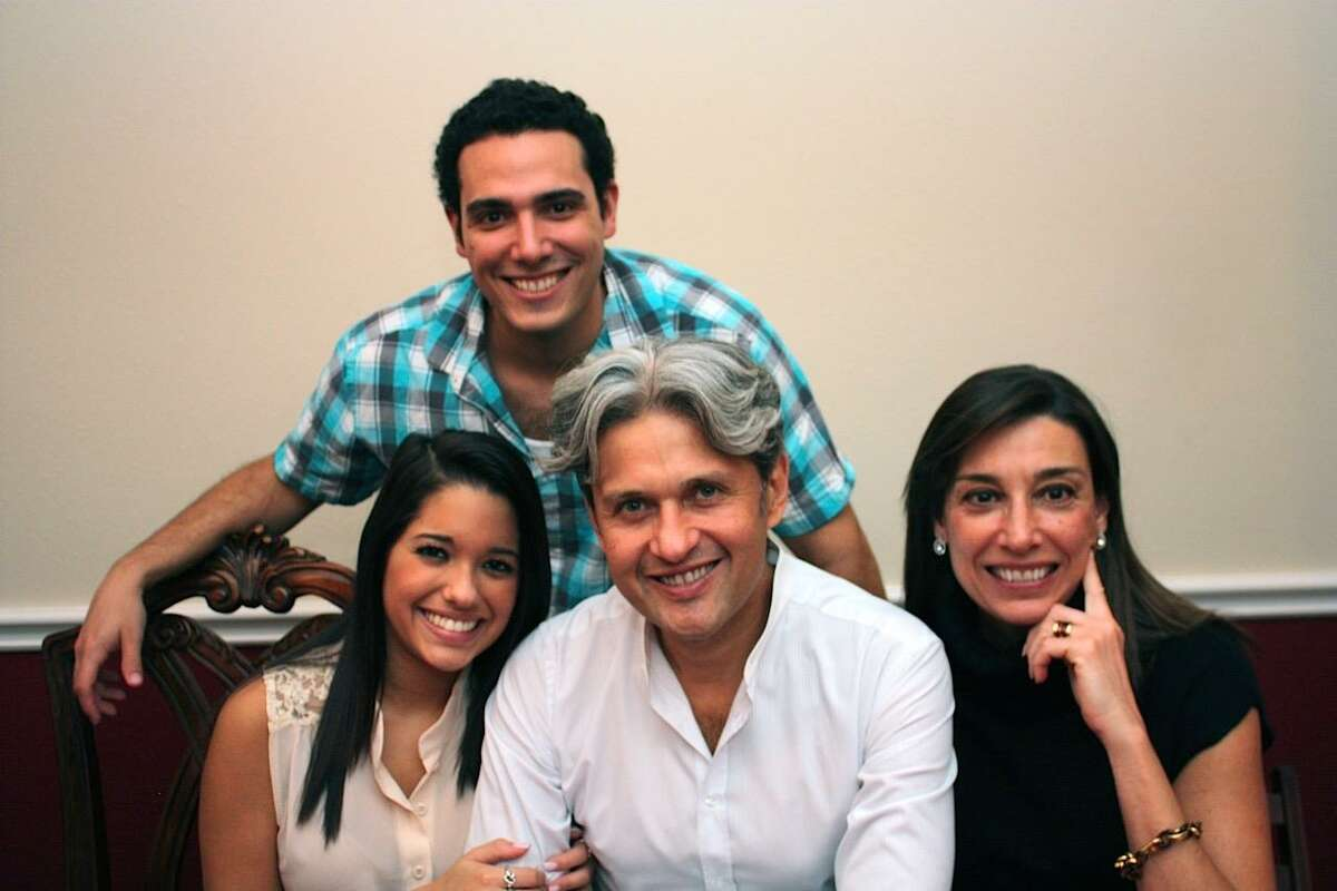 Jorge Toledo (center) of Sugar Land in a family photo before he was detained in Venezuela with his daughter Isabella, son Carlos and wife Carmen.