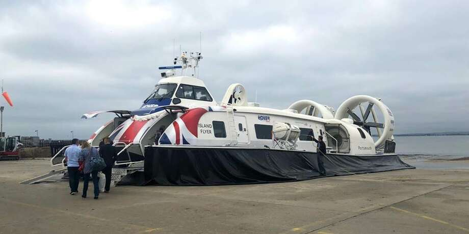 A delegation of Bay Area leaders recently traveled to England to see how hovercrafts might be able to work in the San Francisco Bay. Photo: HOVR