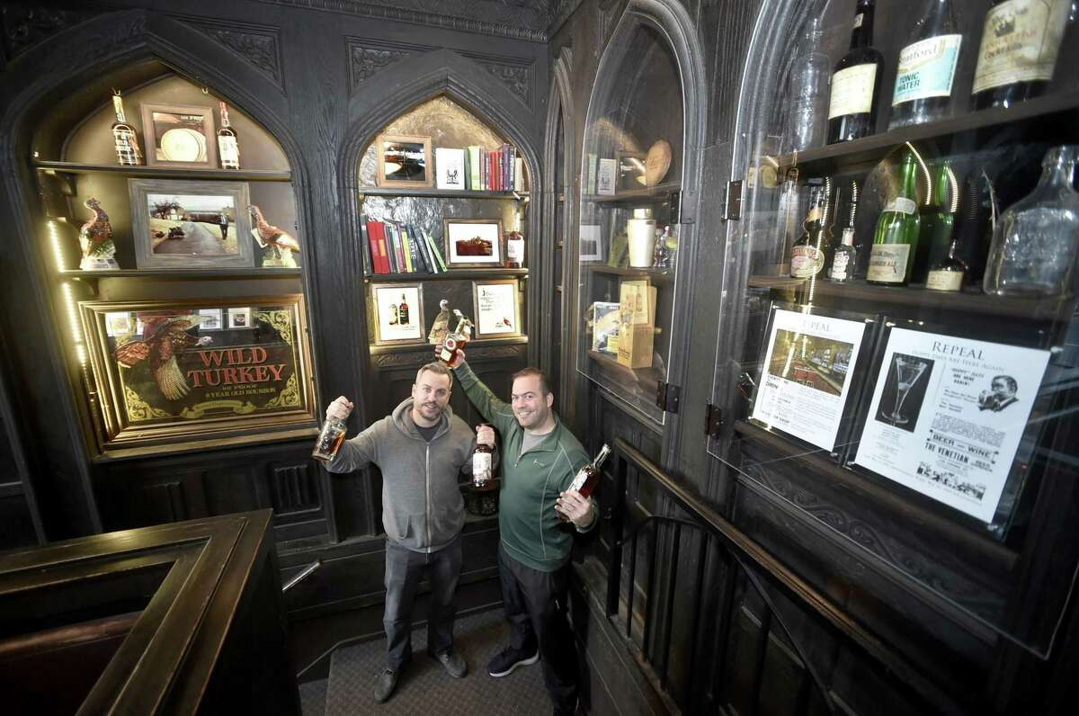 Tim Cabral, co-owner of Ordinary bar, the former Richter's and Taft Hotel Tap Room bar on Chapel Street in New Haven, left, and Colin Caplan, an architectural designer and author who has specialized in writing books about New Haven, right. Ordinary is one of the winners on the New Haven Register's 2019 Best of Reader's poll in the Best Cocktail category.