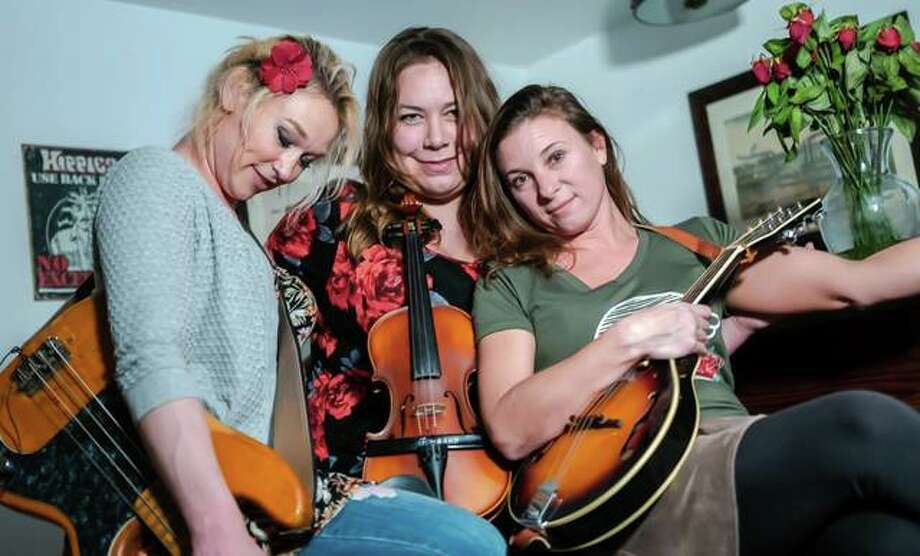 The Dead Roses, from left, Mila Raye Duffy, Erin Jo Paddlefoot and Sarah Springman-Shewmake. Photo: Nathan Woodside | The Telegraph