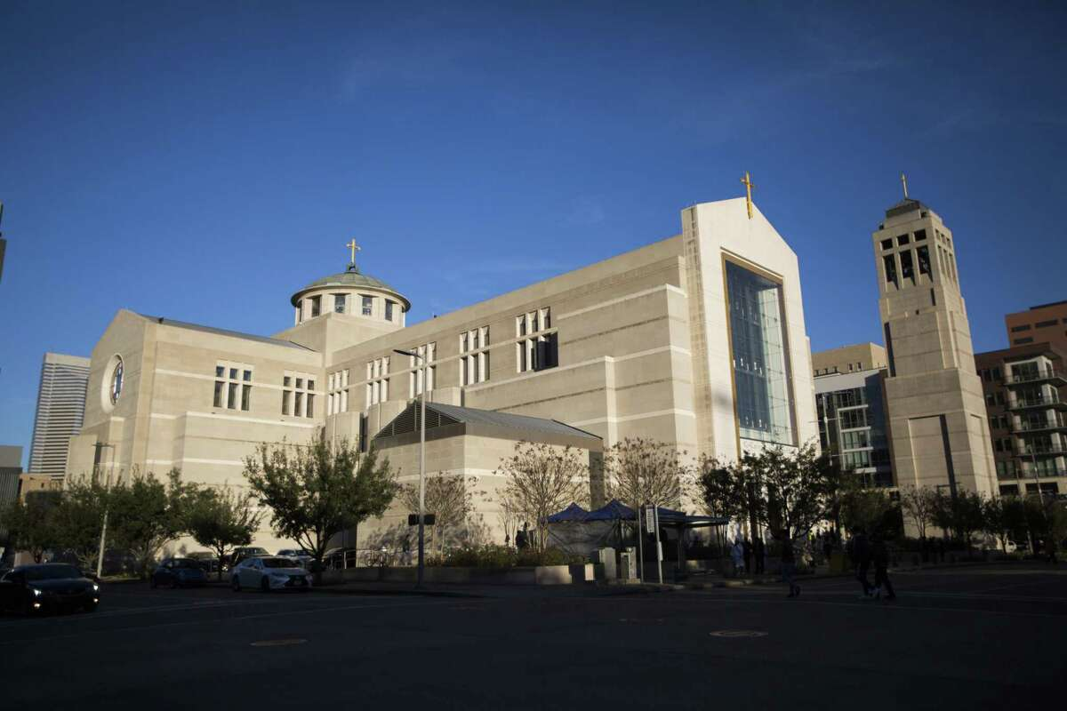 Exterior view of the Co-Cathedral of the Sacred Heart, Sunday, Jan. 20, 2019, in Houston.