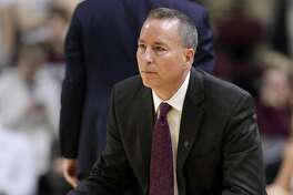 Texas A&M coach Billy Kennedy watches the team play LSU during the second half of an NCAA college basketball game Wednesday, Jan. 30, 2019, in College Station, Texas. (AP Photo/Michael Wyke)