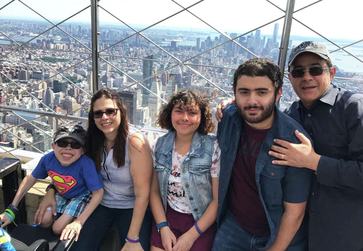 Gustavo Cardenas (far right) with his family on vacation in New York before he was detained. Left to right: son Sergio,18, wife Maria Elena,50, daughter, Maria Mercedes, 20, son Gus,22, and Gustavo, 53.