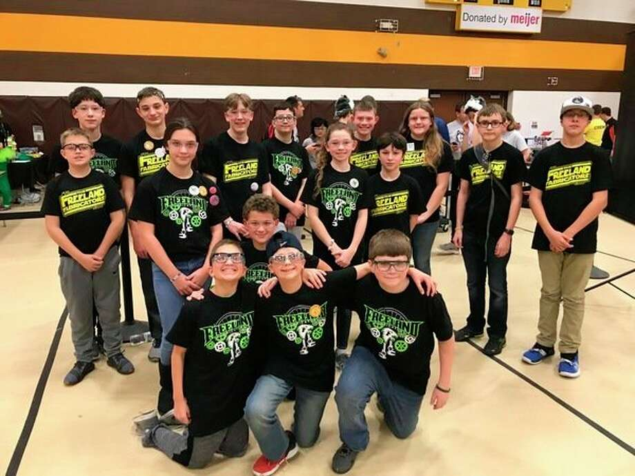 Freeland's 'More Fabricators' FIRST Tech Challenge team gets together for a photo. (Photo provided)