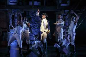 "A scene from ""Hamilton"" on Broadway with Bryan Terrell Clark."