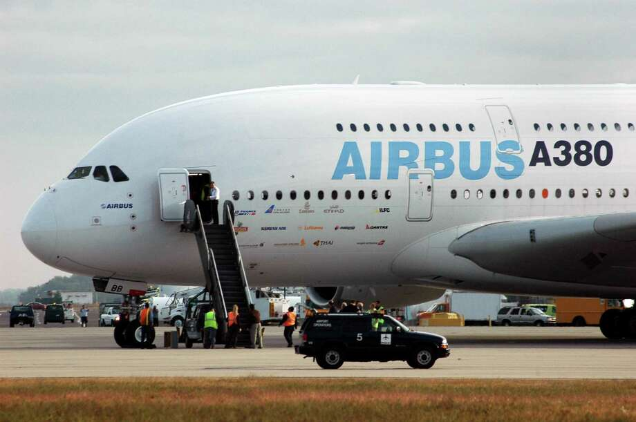 The Airbus A380 at Bradley International Airport in Windsor Locks, Connecticut. Photo: George Ruhe / AP / AP