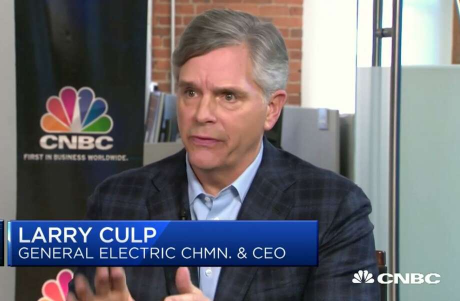 General Electric CEO Larry Culp Jr. in a November 2018 appearance on CNBC. (Screenshot via CNBC)
