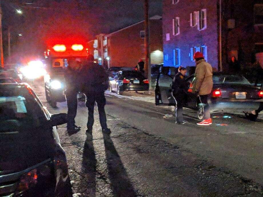 Bridgeport Police investigate a shooting on Birdseye Street on Jan. 20. Photo: Contributed Photo