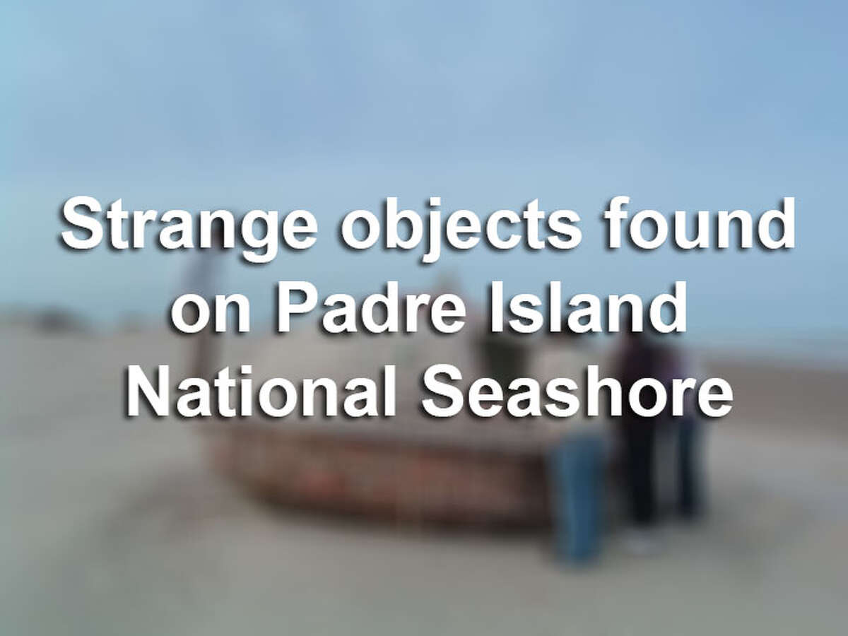 Click through the slideshow to view crazy objects that have washed up on Padre Island National Seashore.