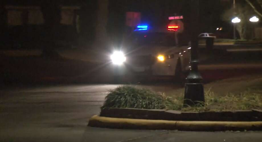 """Deputies with the Harris County Sheriff's Office are investigating a shooting that left a woman dead with a gunshot wound to the head in a Spring subdivision. The call originally came in as a """"possible suicide,"""" but deputies are getting conflicting information from witnesses. Photo: Metro Video"""