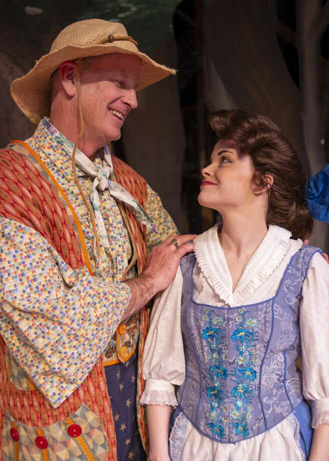 """Bill Dingus, left as Maurice, father to Belle played by Jenica Maroney in rehearsal for Midland Community Theatre's """"Beauty and the Beast."""" Photo: Whitney Smith Courtesy Midland Community Theatre"""