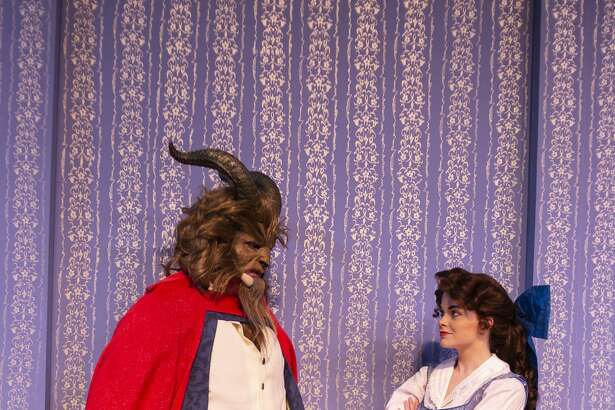 "Rehearsal for Midland Community Theatre's ""Beauty and the Beast."""