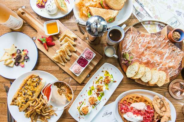 A'Bouzy on Westheimer has launched a new brunch menu that includes waffles with strawberries; king crab and shrimp cocktail; bacon, lettuce and tomato sandwich with avocado and fried egg served with house chips; bagel and lox; eggs Benedict, steak and eggs, pork carnitas hash, southwest omelet, and caviar and blini.
