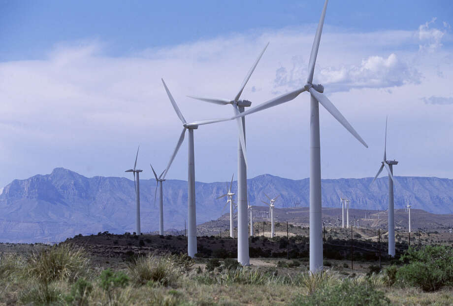 The Delaware Mountain Wind Farm is located in Culberson County, Texas. Photo: Greg Smith / Corbis / Getty Images