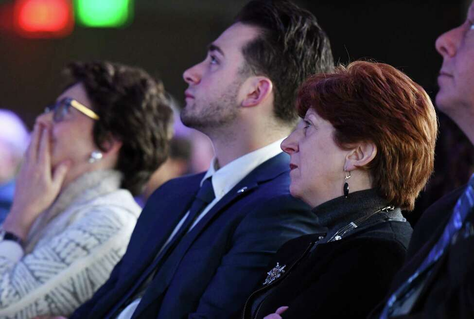 Albany Mayor Kathy Sheehan listens as State University of New York Chancellor Kristina M. Johnson delivers her State of the University System Address Thursday, Jan. 31, 2019 at the Albany Capital Center in Albany, NY. (Phoebe Sheehan/Times Union)