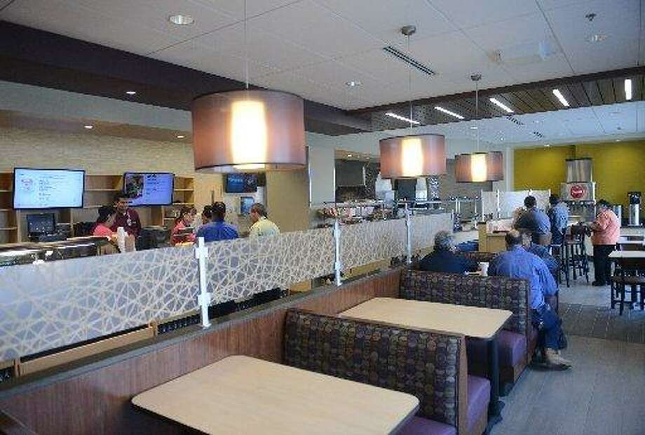 Bistro 5, in the tower of Danbury Hospital. File photo. Photo: Tyler Sizemore