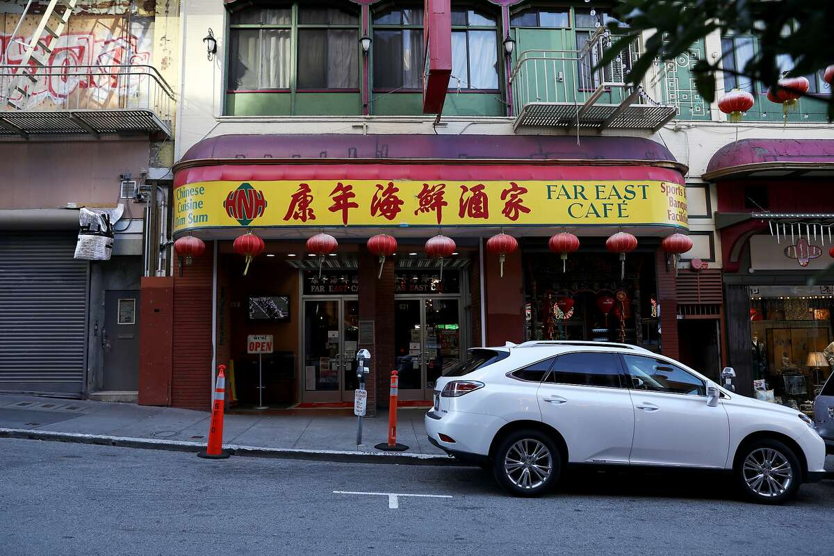 Exterior shot of Far East Cafe in San Francisco, Calif., on Tuesday, January 22, 2019. The restaurant, which is about to celebrate its 100th anniversary, is located at 631 Grant Ave. It serves classic Chinese American and Cantonese food in an era when immigration is changing and restaurants are specializing in regional cuisines from all over China.