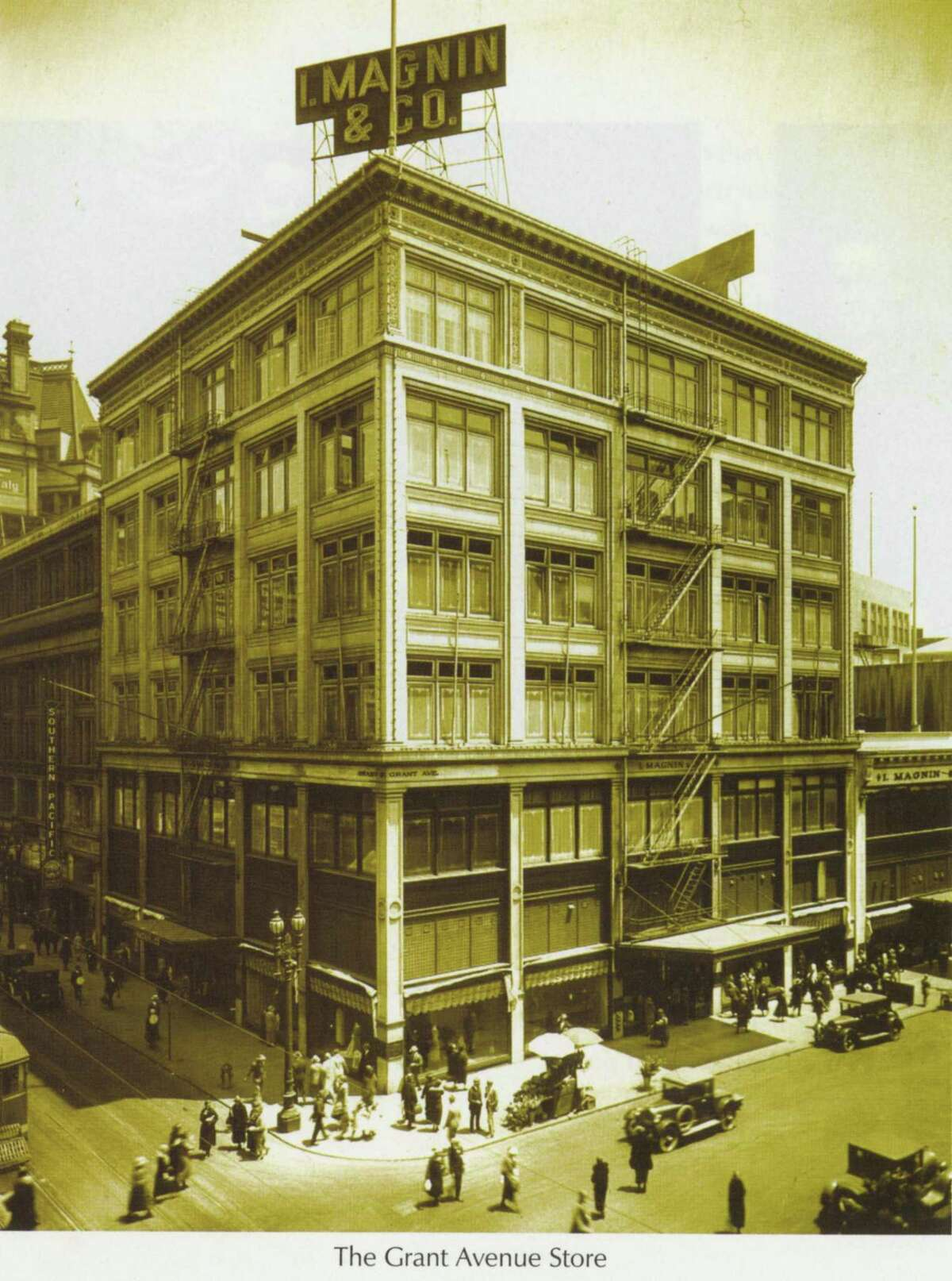 """A view of the I. Magnin store from the book """"A Store to Remember."""""""