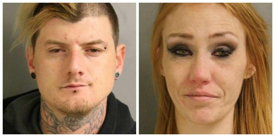 Ryan Byrd, 34, and Elizabeth Holmes, 28, were arrested Wednesday and are facing felony drug charges. Photo: Harris County Precinct 5 Constable Ted Heap's Office