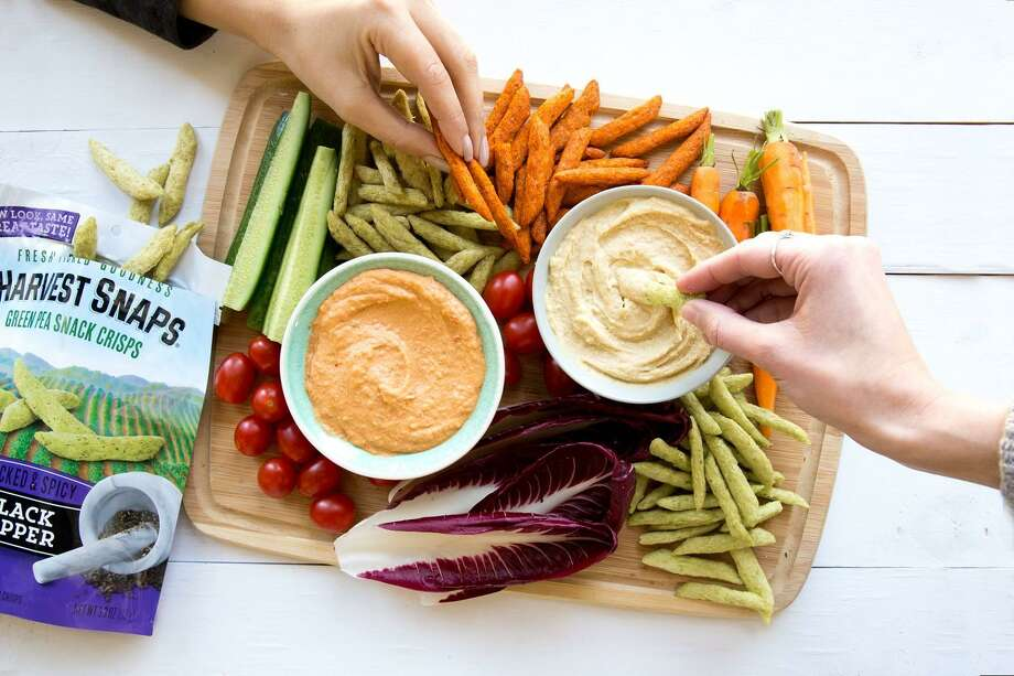 Homemade Hummus with Harvest Snapes Photo: Courtesy / Harvest Snaps