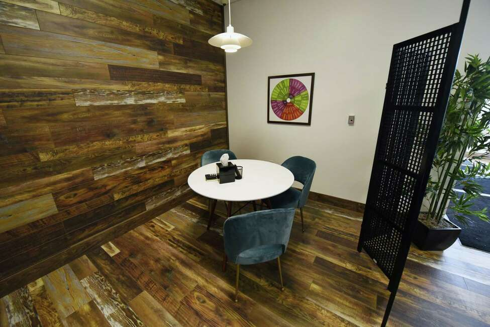 A view of the consultation area of Fiorello Pharmaceuticals Thursday, Jan. 31, 2019 in Halfmoon, NY. (Phoebe Sheehan/Times Union)