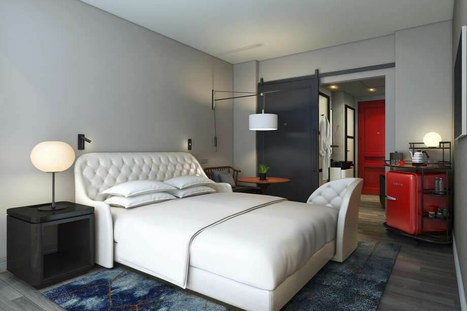 "At the Virgin Hotel San Francisco, rooms are called ""chambers"" and will closely resemble this rendering. Photo: Virgin Hotels"