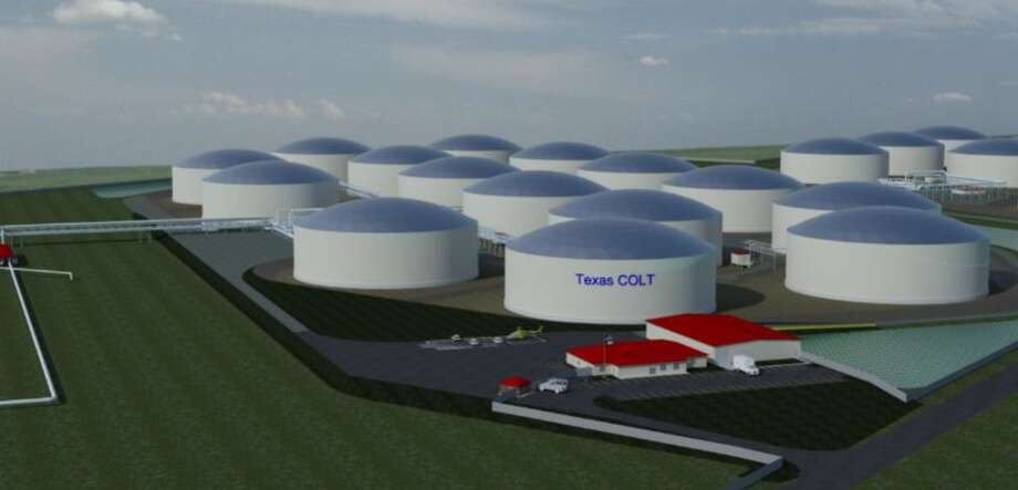 Enterprise is not alone. A joint venture between Canadian pipeline operator Enbridge, Houston pipeline operator and German shipping company Oiltanking is also seeking to build a similar offshore crude oil export terminal in an area of the south of Freeport. Known as the Texas Crude Offshore Loading Terminal, or Texas COLT, the project will also accommodate VLCC tankers. Photo: Kinder Morgan
