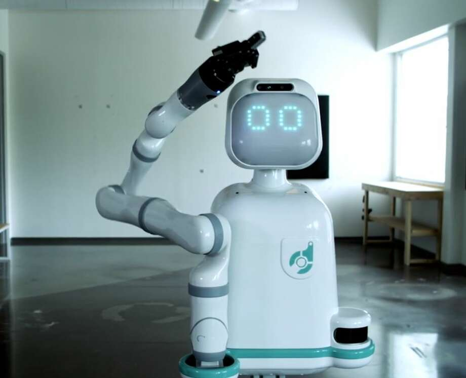 "Created by Texas-based company Diligent Robotics, Moxi is a ""socially intelligent healthcare service robot,"" designed to help nurses with logistical tasks like delivering linens, admission supplies and lab samples. Moxi started at the Jennie Sealy Hospital at UTMB Galveston Jan. 21. Photo: Courtesy Diligent Robotics"