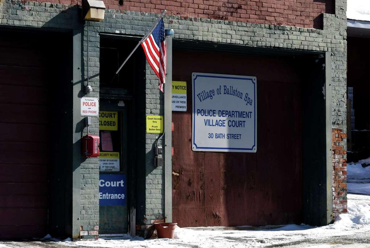 Exterior of the Ballston Spa Village Court on Thursday, Jan. 31, 2019, on Bath Street in Ballston Spa, N.Y. (Will Waldron/Times Union)