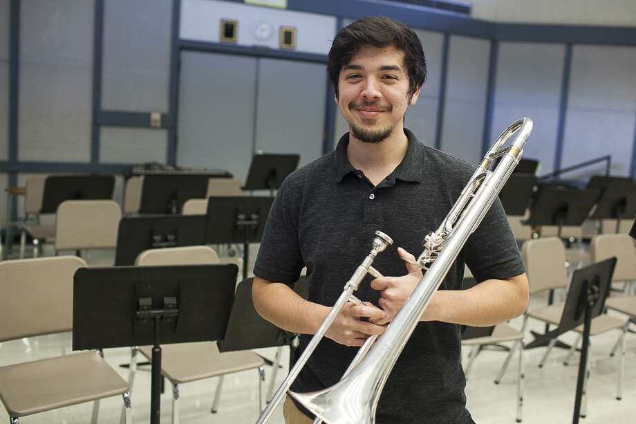 Wharton County Junior College trombone player Angel Ramos of Orchard has earned a spot on the Texas Two Year College All-State Band and will perform in February at the Texas Music Educators Association Conference in San Antonio. Photo: Wharton County Junior College