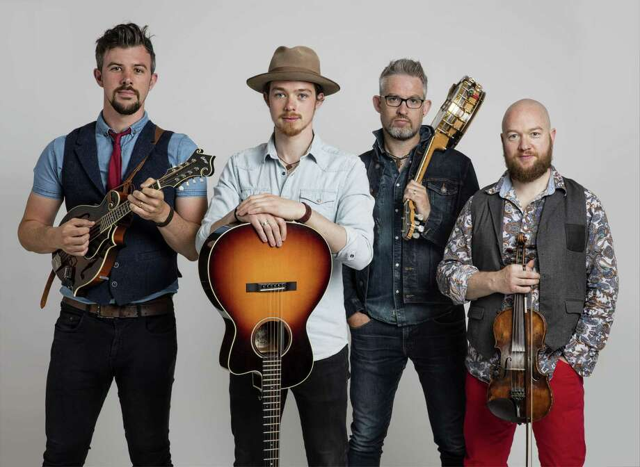 """WE BANJO 3: We Banjo 3 brings its high-energy Celtic, bluegrass, folk and country music back to The Kate in Old Saybrook for the third time on Feb. 7 at 7:30 p.m. Even though it's """"3,"""" there are four members, two sets of brothers, who hail from Galway, Ireland, and also spend a lot of time in Nashville, said a Kate representative. They play eight instruments: banjo, fiddle, viola, dobro, guitar, mandolin and percussion, and all four sing. Tickets are $38-$41. Call 860-510-0453. Photo: Courtesy Of Michelle Roche / © DN Design 2017"""