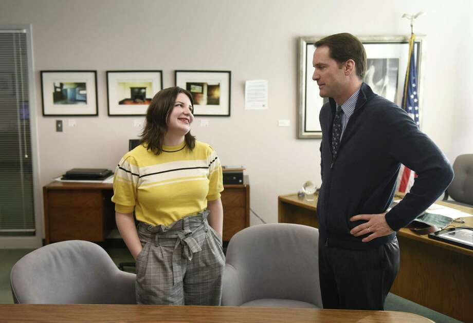 Lane Murdock, a junior at Ridgefield High School, chats with U.S. Rep. Jim Himes after being invited to attend the State of the Union address with him in the Congressman's office in Stamford, Conn. Thursday, Jan. 31, 2019. Murdock, 16, led Ridgefield High School's walkout for stricter gun laws on April 20 of 2018 shortly after the mass shooting at Marjory Stoneman Douglas High School. Photo: Tyler Sizemore / Hearst Connecticut Media / Greenwich Time