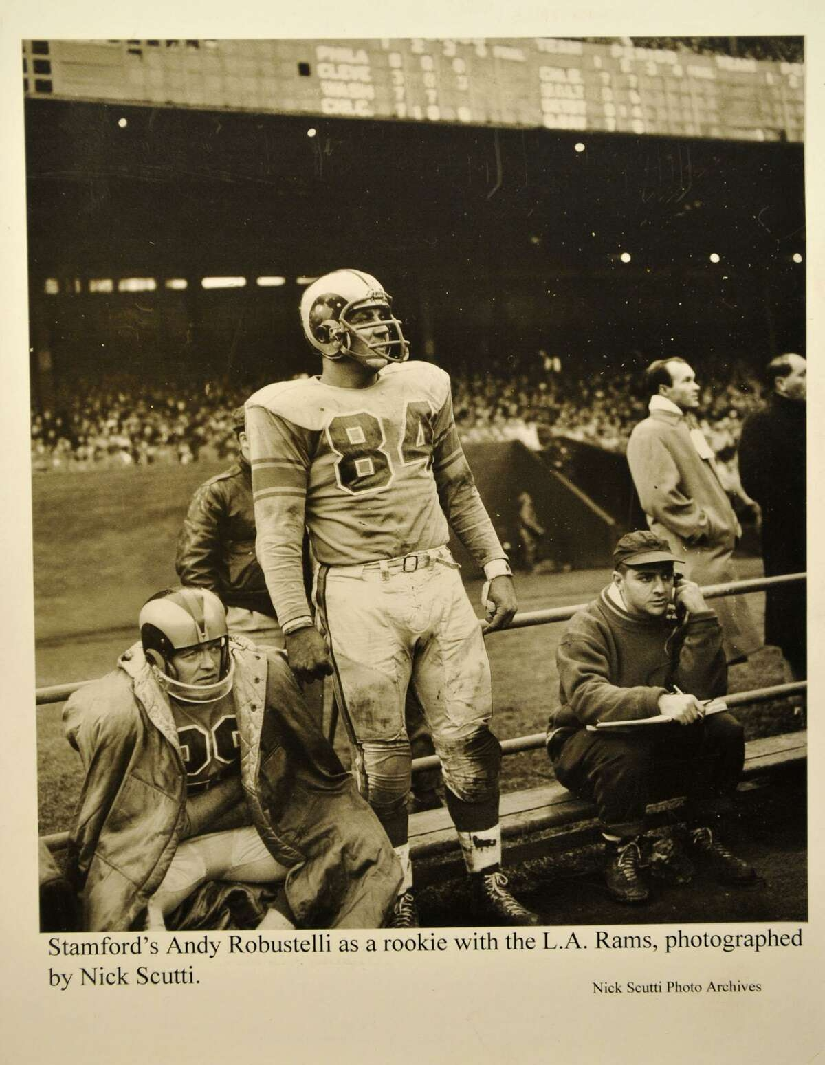 Andy Robustelli when he played for the Los Angeles Rams.