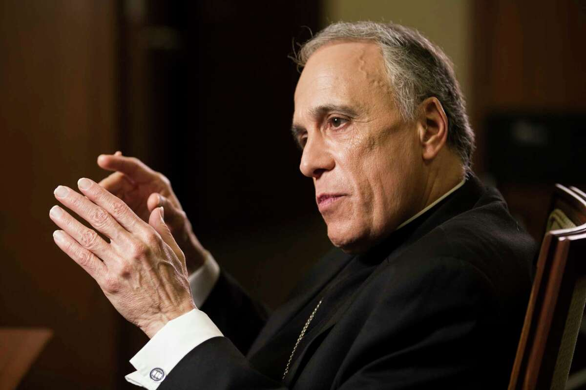 """Cardinal Daniel DiNardo takes questions about the list of """"credibly accused"""" priests in Houston region released by the Archdiocese of Galveston-Houston on Thursday, Jan. 31, 2019, in Houston."""