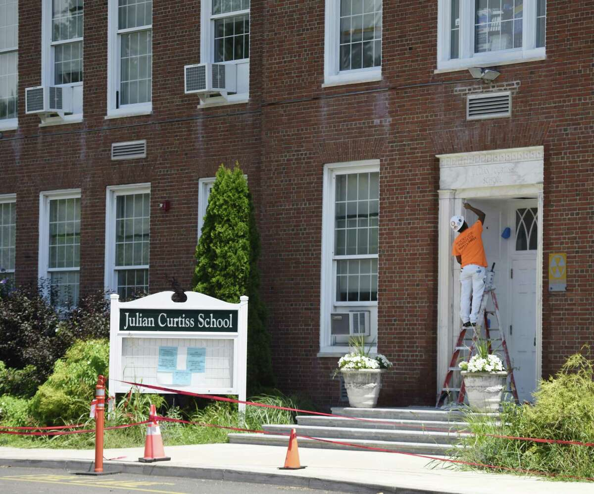 Summer construction continues at Julian Curtiss School in Greenwich, Conn. Tuesday, July 31, 2018.