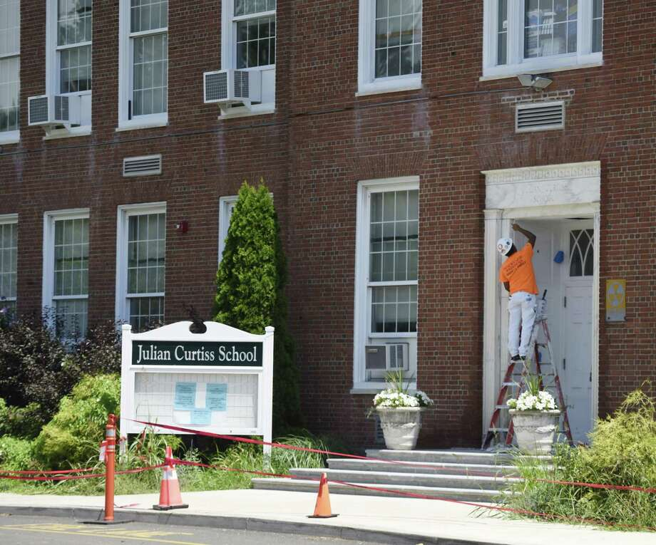 Summer construction at Julian Curtiss School in Greenwich on July 31, 2018. The Board of Education is looking at how it plans and funds capital budget projects after it began the repairs without having the full funding in place. Photo: Tyler Sizemore / Hearst Connecticut Media / Greenwich Time