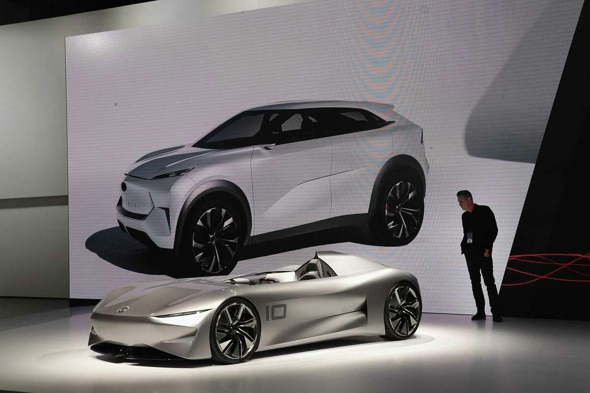 DETROIT, MICHIGAN - JANUARY 15: Infiniti shows off their Inspiration 10 Concept and revealed an all-electric QX Inspiration concept at the North American International Auto Show (NAIAS) at the Cobo Center on January 15, 2019 in Detroit, Michigan. The show is open to the public from January 19-27. (Photo by Scott Olson/Getty Images)