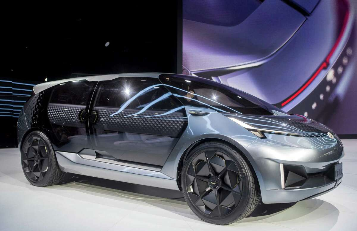 The GAC Entranze concept electric vehicle is unveiled at the North American International Auto Show, Monday, Jan. 14, 2019, in Detroit, Mich. (AP Photo/Tony Ding)